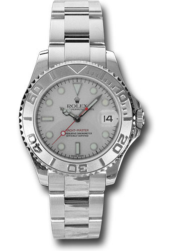 Rolex Watches - Yacht-Master 35 mm - Steel and Platinum - Style No: 168622