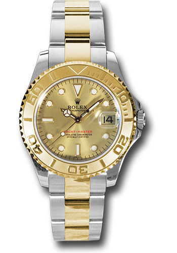 Rolex Watches - Yacht-Master 35 mm - Steel and Yellow Gold - Style No: 168623 ch