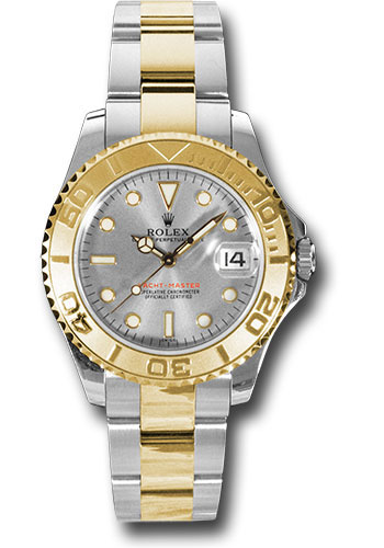 Rolex Watches - Yacht-Master 35 mm - Steel and Yellow Gold - Style No: 168623 pl