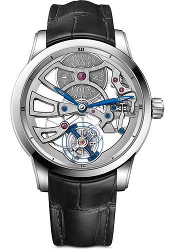 Ulysse Nardin Watches - Classic Skeleton Tourbillon White Gold - Style No: 1700-129
