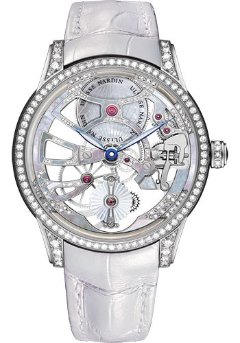 Ulysse Nardin Watches - Classic Skeleton Tourbillon Lady - Style No: 1700-129BC/01