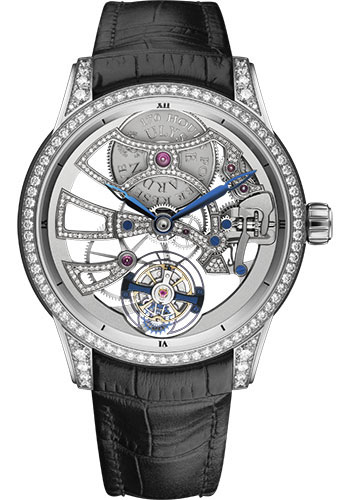 Ulysse Nardin Watches - Classico Skeleton Tourbillon - White Gold - Style No: 1700-129BC