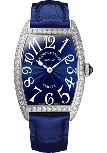 Franck Muller Watches - Cintre Curvex - Quartz - 25 mm Stainless Steel - Dia Case - Strap - Style No: 1752 QZ D AC Blue