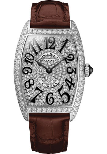 Franck Muller Watches - Cintre Curvex - Quartz - 25 mm Stainless Steel - Dia Case Full Dial - Strap - Style No: 1752 QZ D CD AC Brown