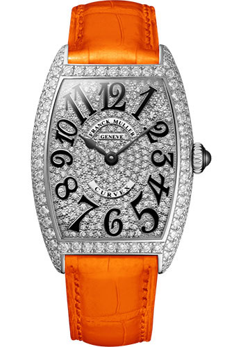 Franck Muller Watches - Cintre Curvex - Quartz - 25 mm Stainless Steel - Dia Case Full Dial - Strap - Style No: 1752 QZ D CD AC Orange