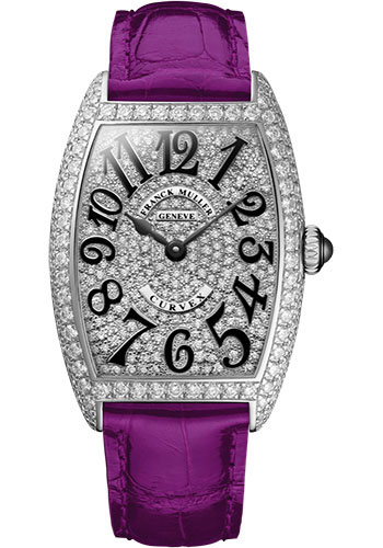 Franck Muller Watches - Cintre Curvex - Quartz - 25 mm Stainless Steel - Dia Case Full Dial - Strap - Style No: 1752 QZ D CD AC Purple
