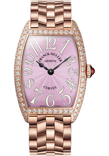 Franck Muller Watches - Cintre Curvex - Quartz - 25 mm Rose Gold - Dia Case - Bracelet - Style No: 1752 QZ D O 5N Pink