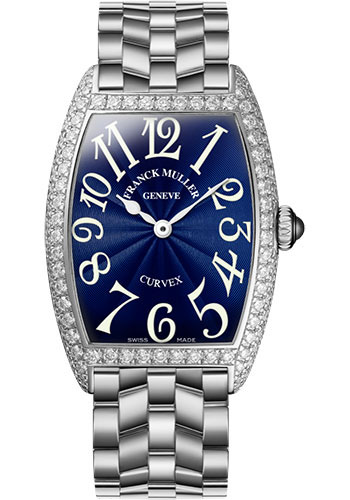 Franck Muller Watches - Cintre Curvex - Quartz - 25 mm Stainless Steel - Dia Case - Bracelet - Style No: 1752 QZ D O AC Blue