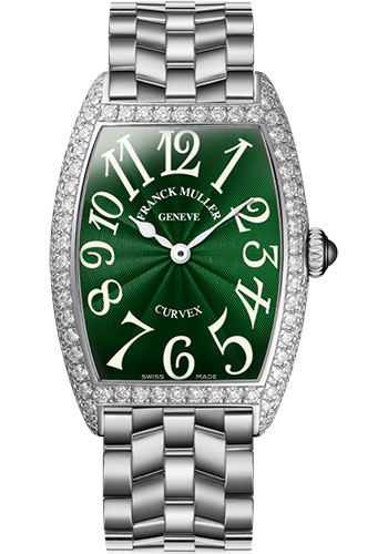 Franck Muller Watches - Cintre Curvex - Quartz - 25 mm Stainless Steel - Dia Case - Bracelet - Style No: 1752 QZ D O AC Green