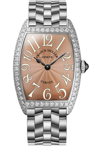 Franck Muller Watches - Cintre Curvex - Quartz - 25 mm White Gold - Dia Case - Bracelet - Style No: 1752 QZ D O OG Bronze