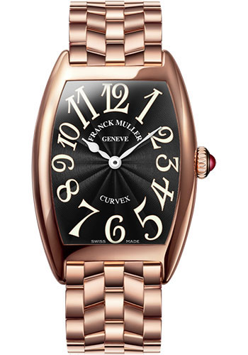 Franck Muller Watches - Cintre Curvex - Quartz - 25 mm Rose Gold - Bracelet - Style No: 1752 QZ O 5N Black