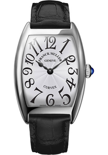 Franck Muller Watches - Cintre Curvex - Quartz - 25 mm White Gold - Strap - Style No: 1752 QZ OG White Black