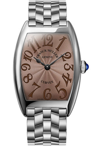 Franck Muller Watches - Cintre Curvex - Quartz - 25 mm Platinum - Bracelet - Style No: 1752 QZ O PT Chocolate