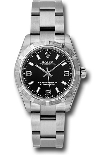 Rolex Watches - Oyster Perpetual No-Date 31mm - Engine Turned - Style No: 177210 bkaio