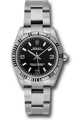 Rolex Watches - Oyster Perpetual No-Date 31mm - Fluted Bezel - Style No: 177234 bkaio
