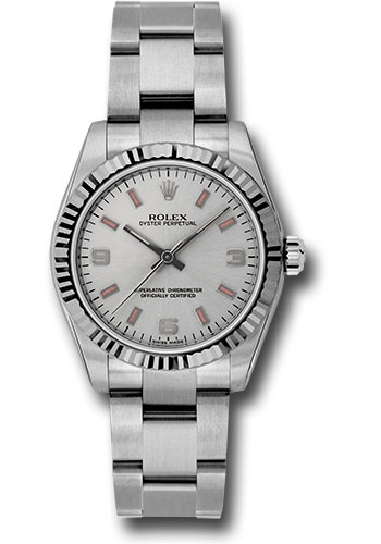 Rolex Watches - Oyster Perpetual No-Date 31mm - Fluted Bezel - Style No: 177234 spio