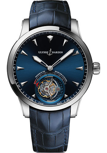 Ulysse Nardin Watches - Classico Ulysse Anchor Tourbillon - White Gold - Style No: 1780-133/93