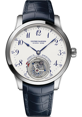 Ulysse Nardin Watches - Classico Ulysse Anchor Tourbillon - White Gold - Style No: 1780-133/E0-60