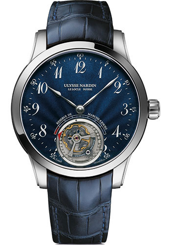Ulysse Nardin Watches - Classic Ulysse Anchor Tourbillon White Gold - Style No: 1780-133/E3