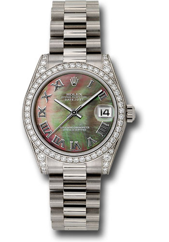 Rolex Watches - Datejust 31mm - Gold President White Gold - Dia Bezel - Dia Case - Style No: 178159 dkmrp
