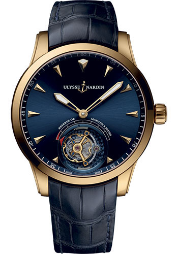 Ulysse Nardin Watches - Classico Ulysse Anchor Tourbillon - Rose Gold - Style No: 1782-133/93