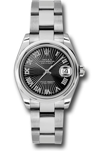 Rolex Watches - Datejust 31mm - Steel Domed Bezel - Oyster Bracelet - Style No: 178240 bksbro