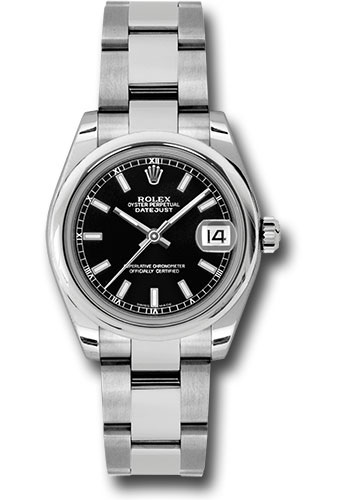 Rolex Watches - Datejust 31mm - Steel Domed Bezel - Oyster Bracelet - Style No: 178240 bkso
