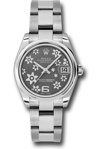 Rolex Watches - Datejust 31mm - Steel Domed Bezel - Oyster Bracelet - Style No: 178240 rfo