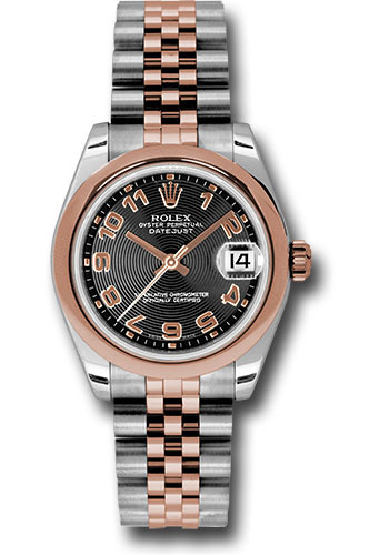 Rolex Watches - Datejust 31mm - Steel and Gold Pink Gold - Domed Bezel - Jubilee - Style No: 178241 bkcaj