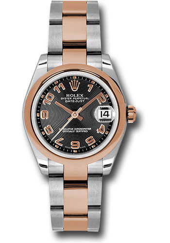 Rolex Watches - Datejust 31mm - Steel and Gold Pink Gold - Domed Bezel - Oyster - Style No: 178241 bkcao