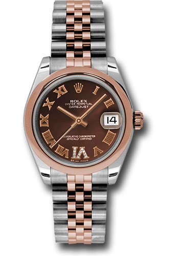 Rolex Watches - Datejust 31mm - Steel and Gold Pink Gold - Domed Bezel - Jubilee - Style No: 178241 chdrj