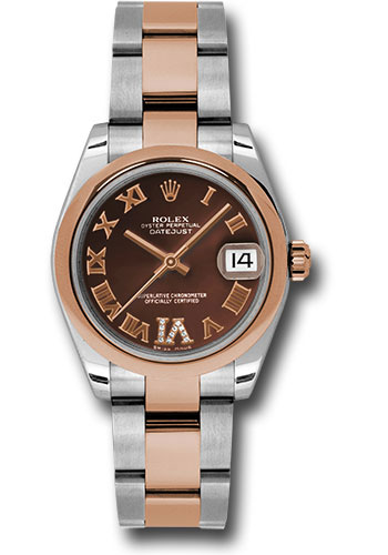 Rolex Watches - Datejust 31mm - Steel and Gold Pink Gold - Domed Bezel - Oyster - Style No: 178241 chdro