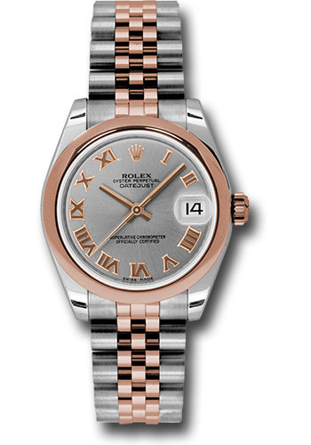Rolex Watches - Datejust 31mm - Steel and Gold Pink Gold - Domed Bezel - Jubilee - Style No: 178241 grj