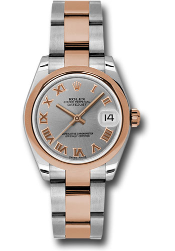 Rolex Watches - Datejust 31mm - Steel and Gold Pink Gold - Domed Bezel - Oyster - Style No: 178241 gro