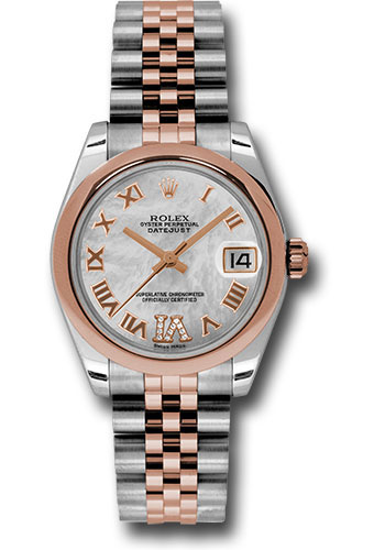 Rolex Watches - Datejust 31mm - Steel and Gold Pink Gold - Domed Bezel - Jubilee - Style No: 178241 mdrj