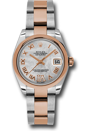 Rolex Watches - Datejust 31mm - Steel and Gold Pink Gold - Domed Bezel - Oyster - Style No: 178241 mdro