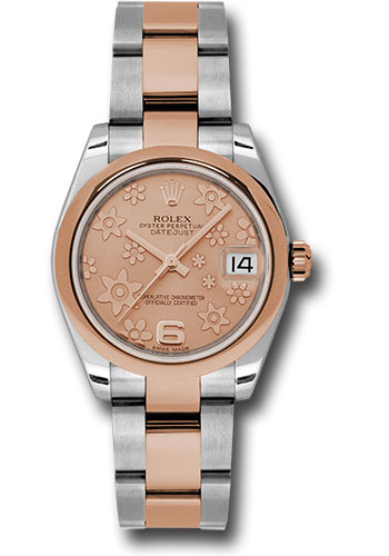Rolex Watches - Datejust 31mm - Steel and Gold Pink Gold - Domed Bezel - Oyster - Style No: 178241 pchfo