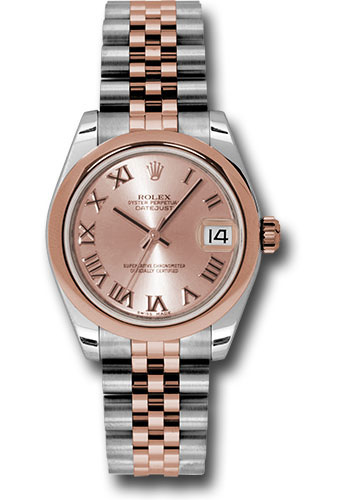 Rolex Watches - Datejust 31 Steel and Everose Gold - Domed Bezel - Jubilee - Style No: 178241 prj