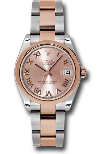 Rolex Watches - Datejust 31mm - Steel and Gold Pink Gold - Domed Bezel - Oyster - Style No: 178241 pro