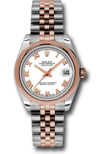 Rolex Watches - Datejust 31 Steel and Everose Gold - Domed Bezel - Jubilee - Style No: 178241 wrj