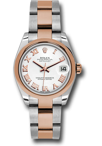 Rolex Watches - Datejust 31mm - Steel and Gold Pink Gold - Domed Bezel - Oyster - Style No: 178241 wro