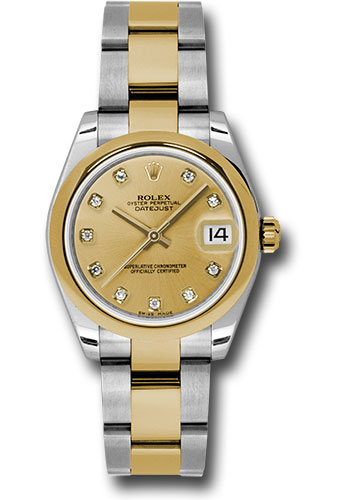 Rolex Watches - Datejust 31mm - Steel and Gold Yellow Gold - Domed Bezel - Oyster - Style No: 178243 chdo