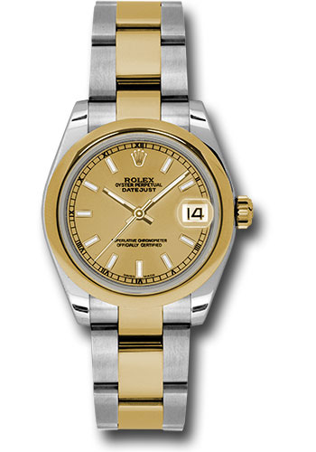 Rolex Watches - Datejust 31mm - Steel and Gold Yellow Gold - Domed Bezel - Oyster - Style No: 178243 chio