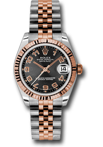 Rolex Watches - Datejust 31mm - Steel and Gold Pink Gold - Fluted Bezel - Jubilee - Style No: 178271 bkcaj