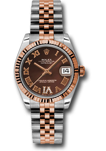 Rolex Watches - Datejust 31mm - Steel and Gold Pink Gold - Fluted Bezel - Jubilee - Style No: 178271 chodrj