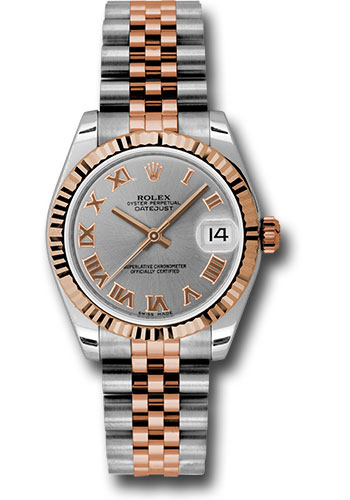 Rolex Watches - Datejust 31mm - Steel and Gold Pink Gold - Fluted Bezel - Jubilee - Style No: 178271 grj