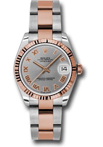 Rolex Watches - Datejust 31mm - Steel and Gold Pink Gold - Fluted Bezel - Oyster - Style No: 178271 gro