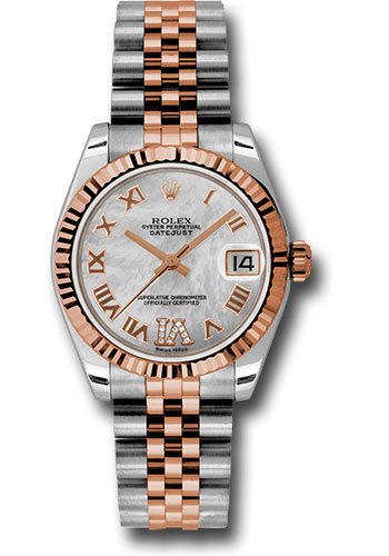 Rolex Watches - Datejust 31mm - Steel and Gold Pink Gold - Fluted Bezel - Jubilee - Style No: 178271 mdrj