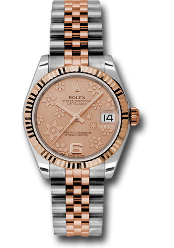 Rolex Watches - Datejust 31mm - Steel and Gold Pink Gold - Fluted Bezel - Jubilee - Style No: 178271 pchfj