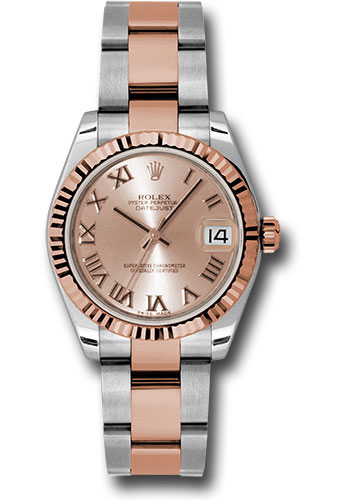 Rolex Watches - Datejust 31mm - Steel and Gold Pink Gold - Fluted Bezel - Oyster - Style No: 178271 pro